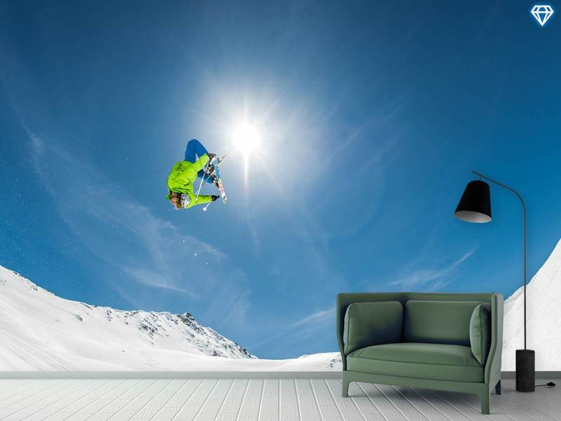 Fotomurale Backflip Crossed Skis
