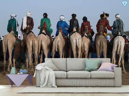 Fototapete Watching The Gerewol Festival From The Camels - Niger