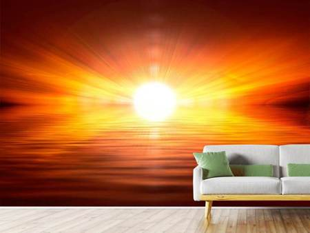 Photo Wallpaper Glowing Sunset