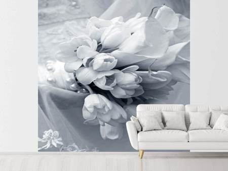 Photo Wallpaper Romantic Tulips Bouquet