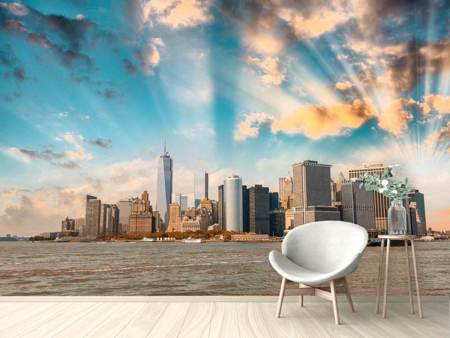 Photo Wallpaper New York, Skyline From The Other Side