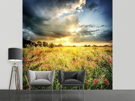Photo Wallpaper Flowers Landscape
